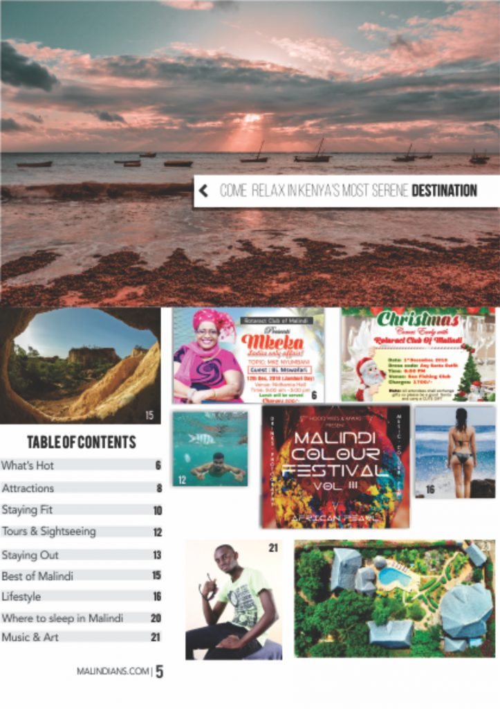 Malindi Tourism Guide Magazine december 2018 issue