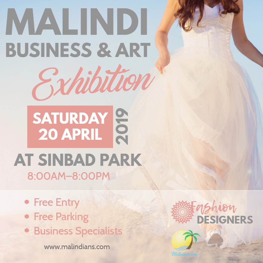 malindi business and art fashion design poster