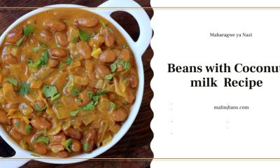 maharagwe ya nazi beans with coconut milk recipe 400x240 - Beans with Coconut milk(Maharagwe ya Nazi)